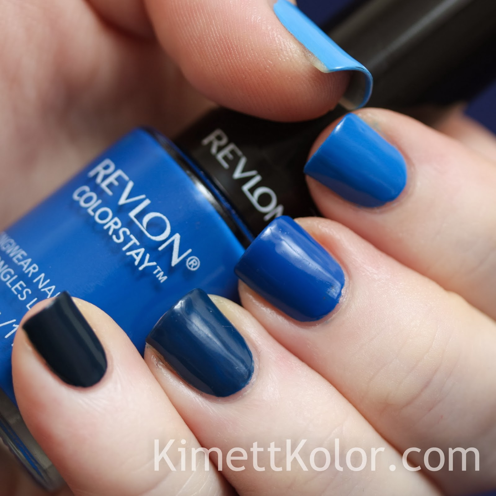 Blue Ombre First Then Kimett Kolor