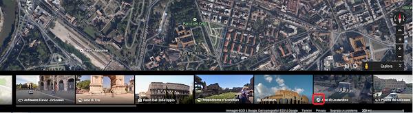 Google Maps - Carosello delle immagini - Icona Tour 3D