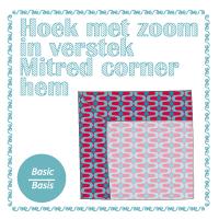 sewing tutorial mitred corner hem FlowerHat