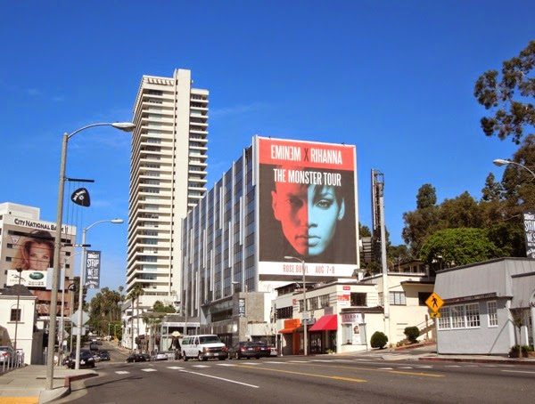 Giant Eminem Rihanna Monster Tour billboard sunset strip