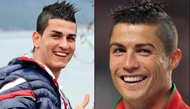 Ronaldo dan Gokmen Wajah mirip