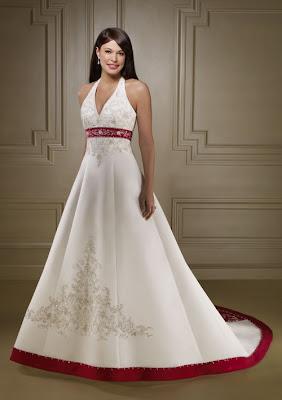 Vestidos de Noiva branco e vermelho