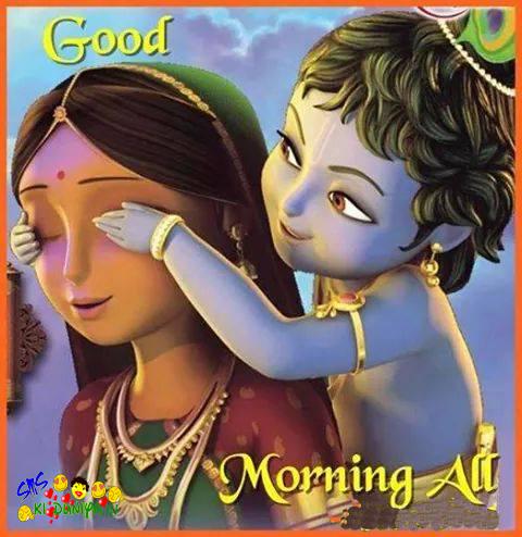 Beautiful Little Krishna 3D Wallpaper for free download