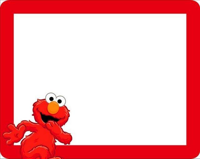 Dibujos a color ?: ? Marcos para fotos o tarjetas de Elmo ?