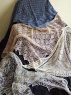 TE KOOP :Linnen en zijden shawls