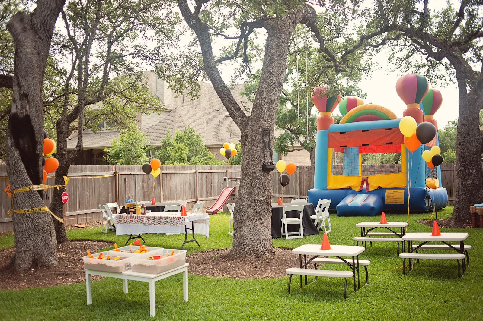 Bringing up three tyler turns two for Backyard party decoration ideas