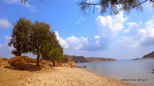 La spiaggia di Plakì, a Patmos