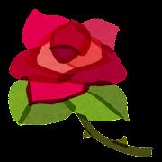 花のイラスト「一輪の薔薇」