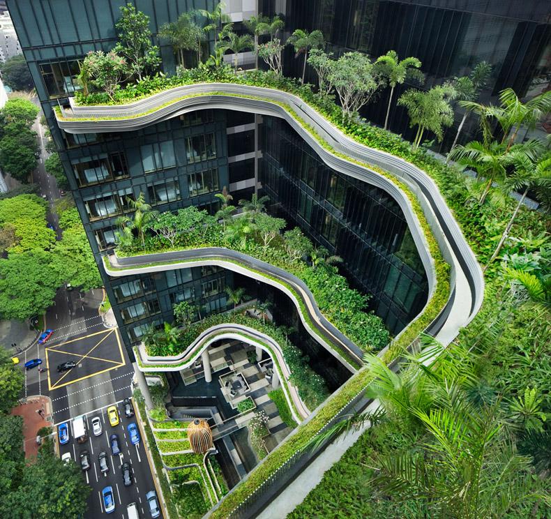 Parkroyal Hotel en Singapur tiene los mejores jardines a cielo abierto