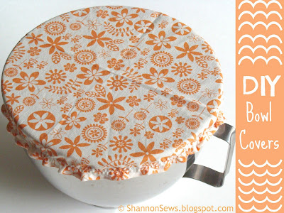 How to sew your own bowl cover tutorial