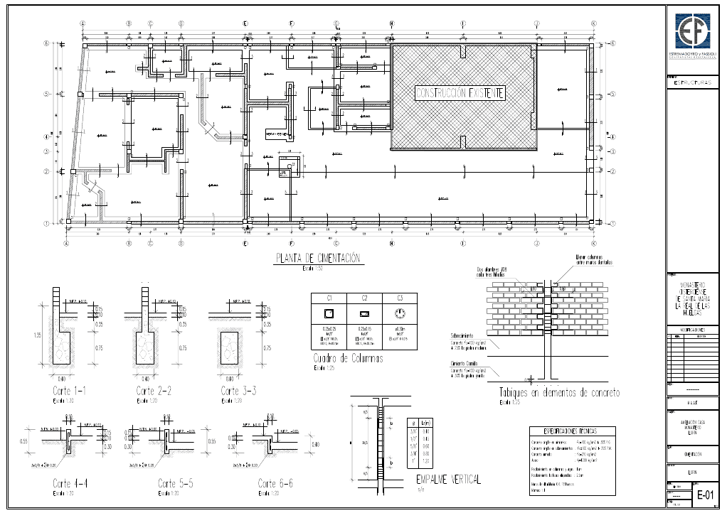 Planos estructurales for Normas para planos arquitectonicos