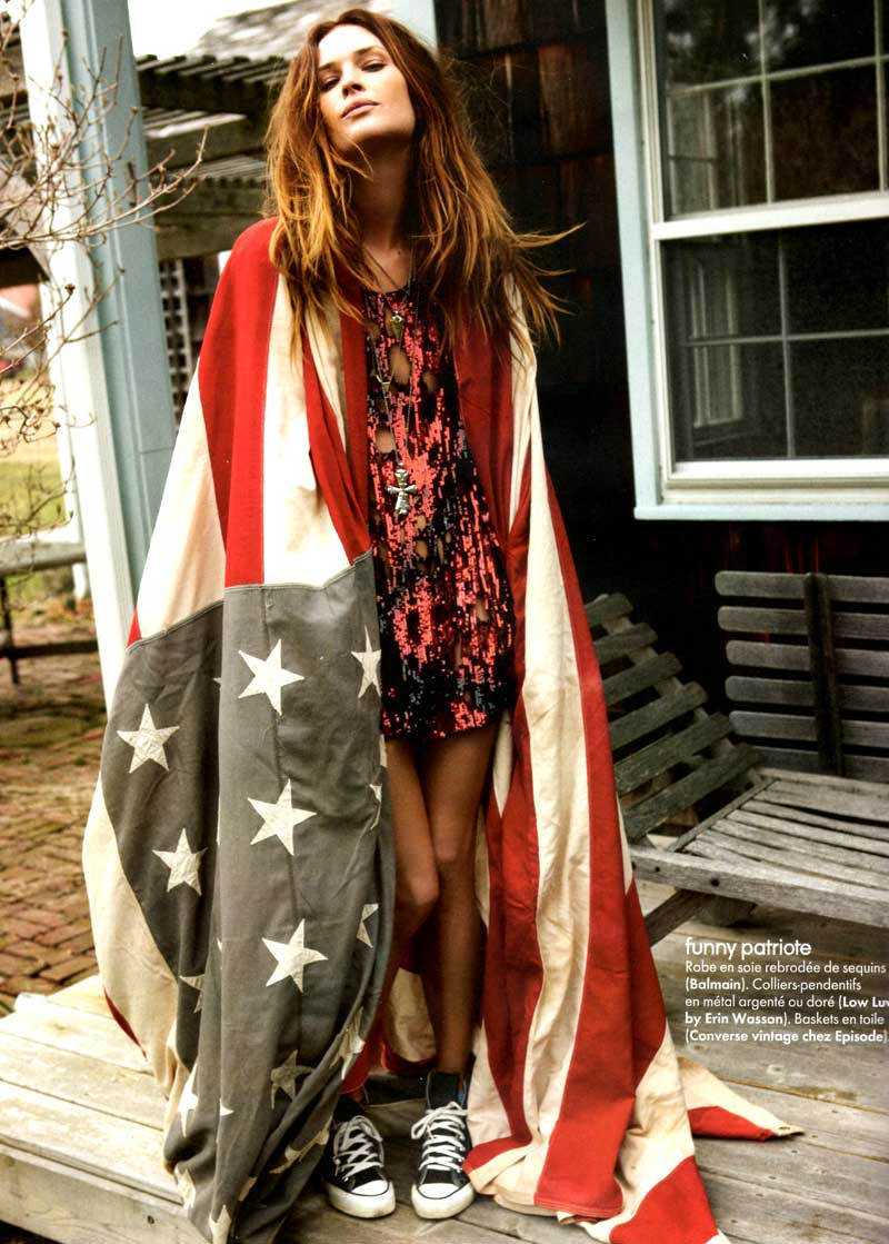 Erin Wasson in Elle France June 2011 (photography: Fred Maylan, styling: Anne-Marie Broulliet)