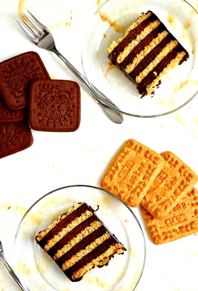 iki renkli bisküvili pasta,burçak bisküvili pasta