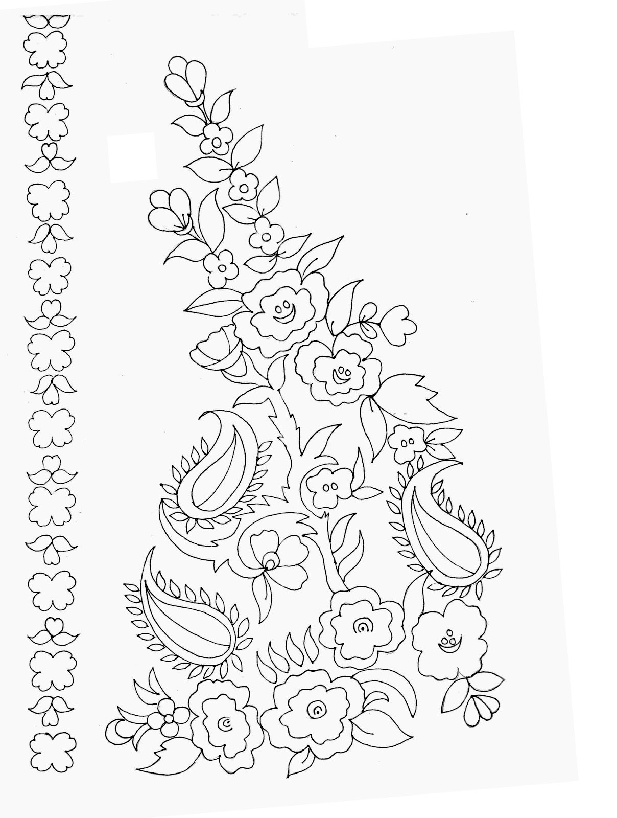 22 simple drawing embroidery patterns makaroka embdesigntube embroidery sketches shared by sarika agarwal bankloansurffo Gallery