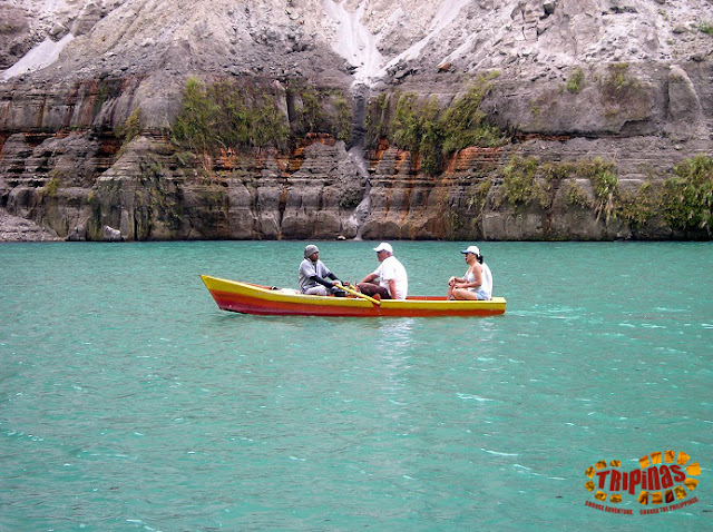 boating on Pinatubo crater lake