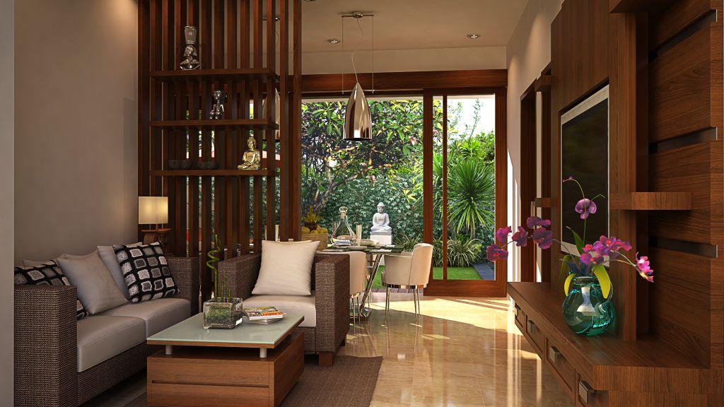 Desain Interior Ruang Tamu Minimalis Modern Type 36