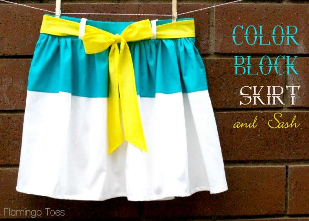 colorblocked skirt sewing tutorial