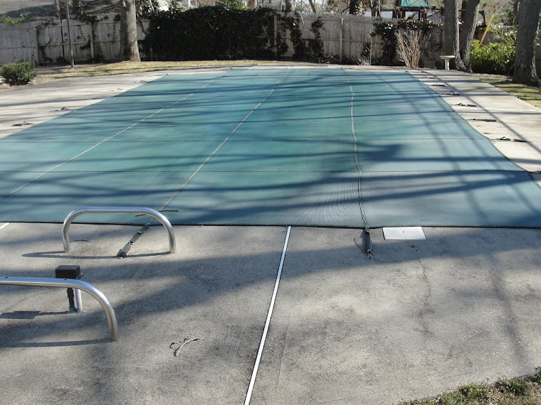The best time to clean or power wash the concrete walk around  the pool is right before the summer