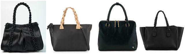 One of these braided handle bags is from Valentino for $2,235 and the other three are under $200. Can you guess which one is the designer bag? Click the links below to see if you are correct!