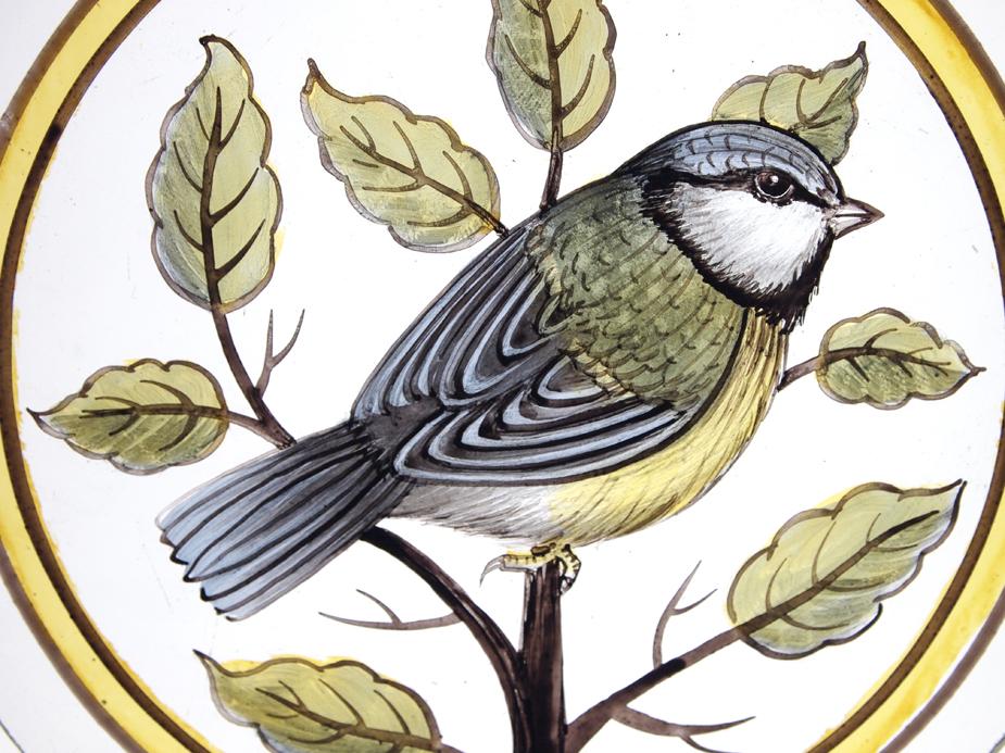 Through the round window british birds in stained glass freelance