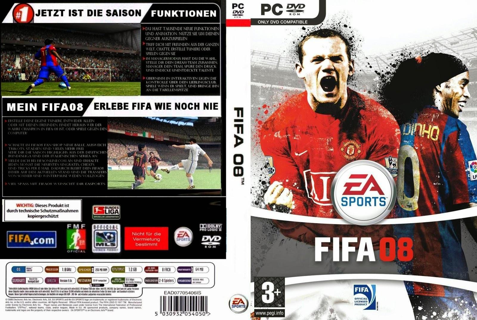 تحميل لعبة fifa 08 برابط واحد