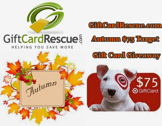 Enter the GiftCardRescue.com Autumn $75 Target Gift Card Giveaway. Ends 10/9.