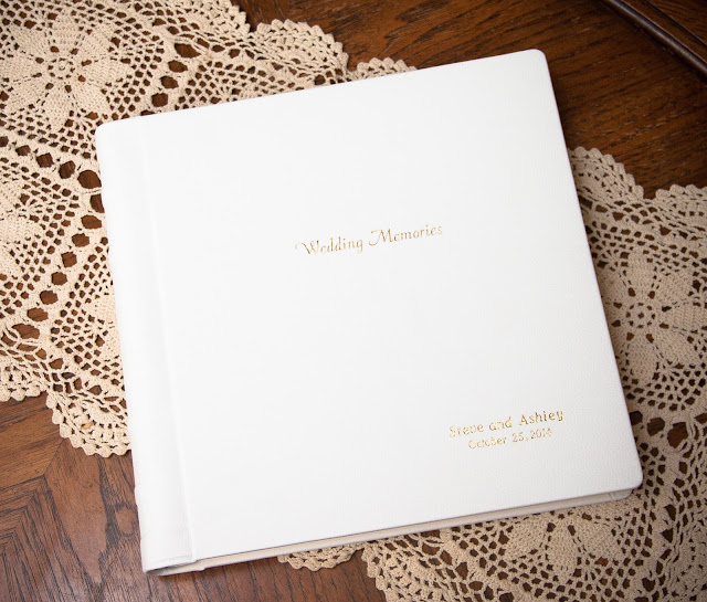 wedding album, parent album, white leather, Silver Spring, wedding photographer