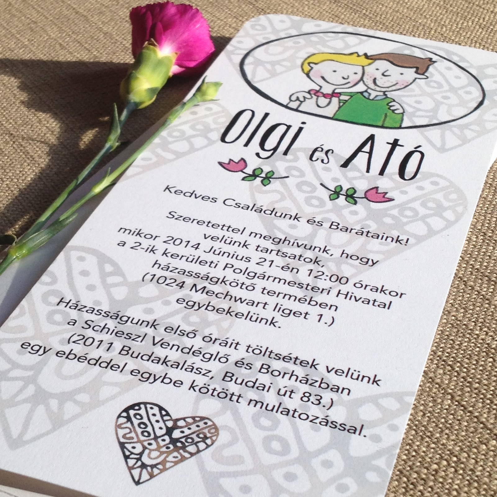 miglodays: Things I draw / Wedding invitation made for our special ...