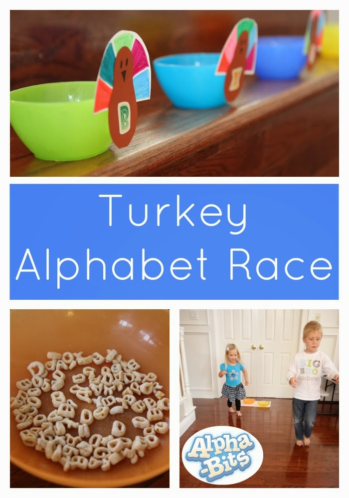Toddler Approved!: Turkey Alphabet Race Game With Alpha Bits