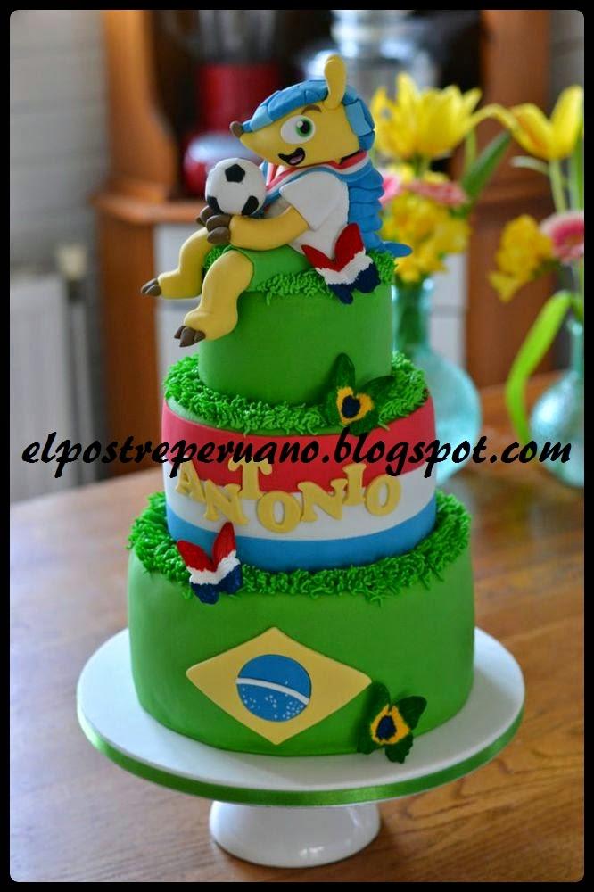 tortas y pasteles para el mundial 2014