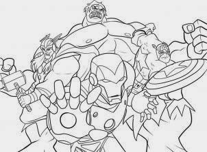 Desenhos de SUPER HERÓIS para colorir Capitão  - imagens para colorir dos vingadores