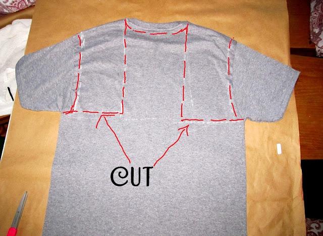 wobisobi no sew tee shirt halter 3 diy - T Shirt Cutting Designs Ideas