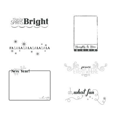 Stampin' Up! Oh What Fun Overlays Digital Stamp Brush Set