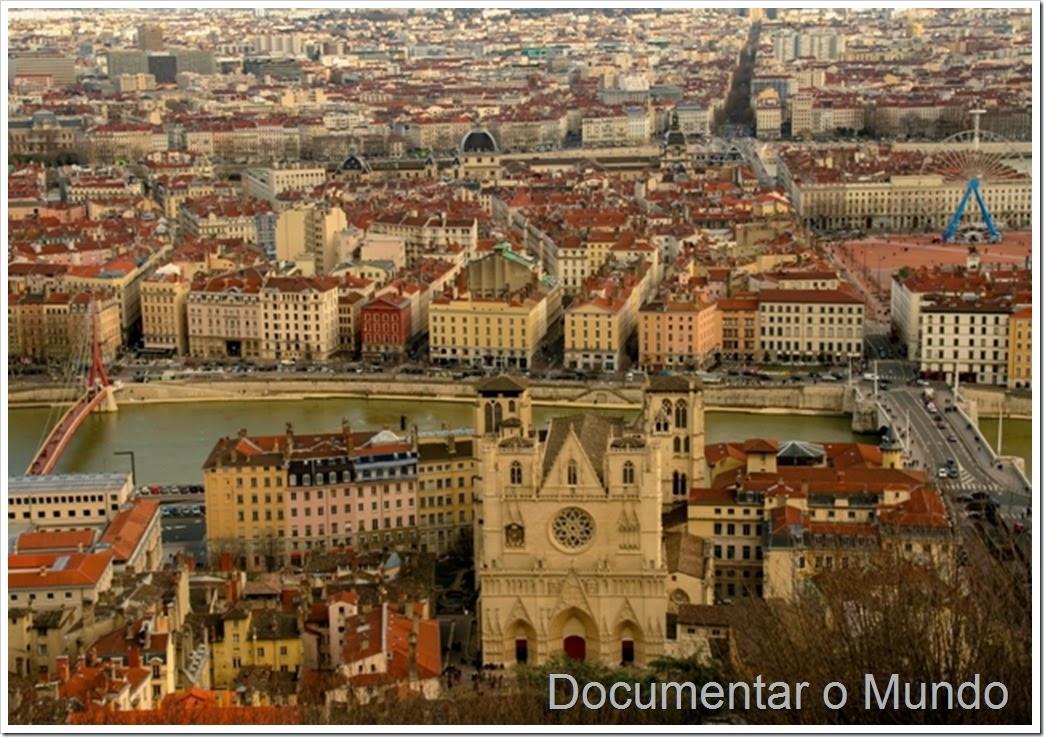 Vista panorâmica sobre Lyon
