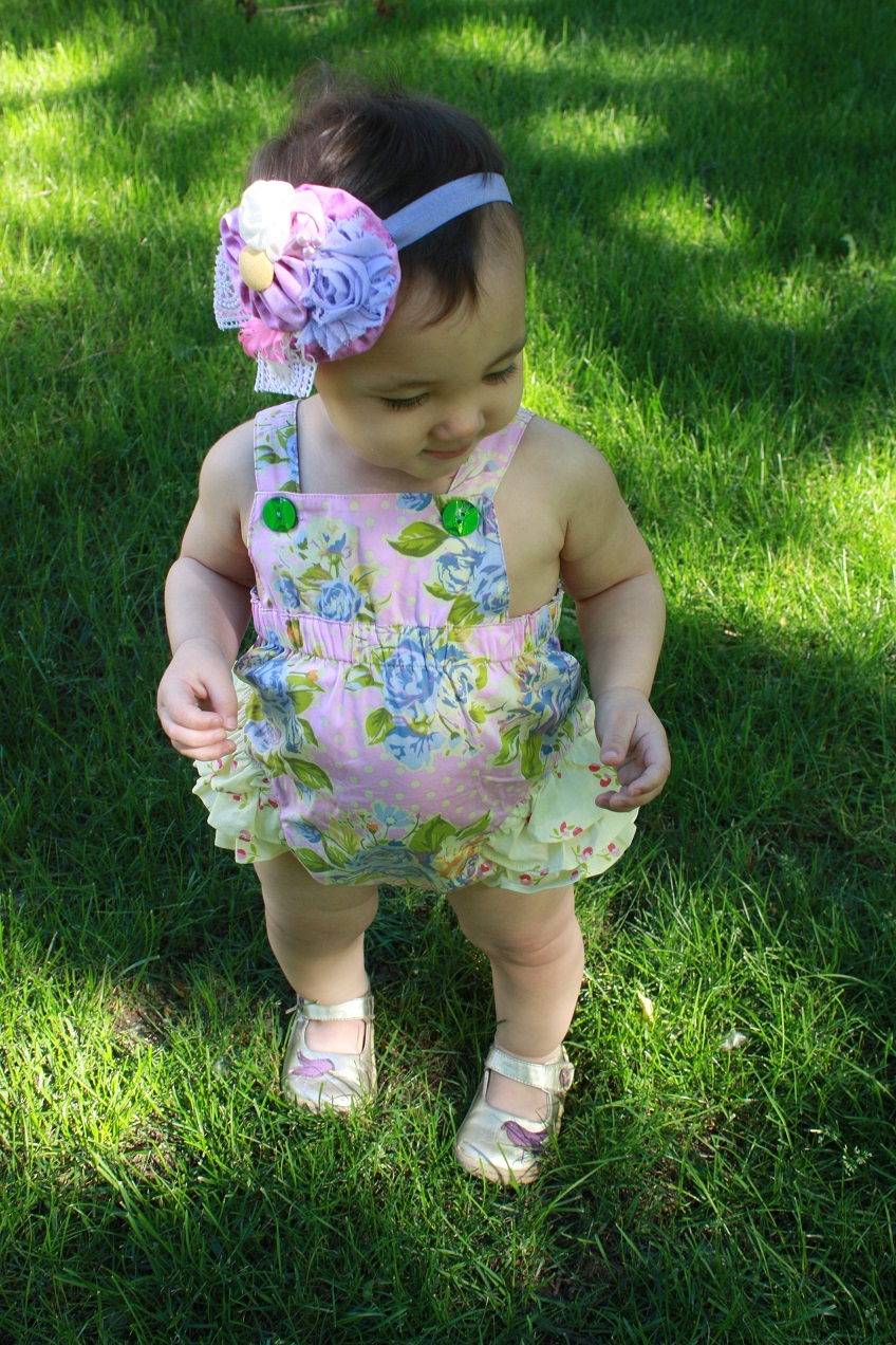 8b5df57b3fd Here she is in the newest Matilda Jane romper! Swoon