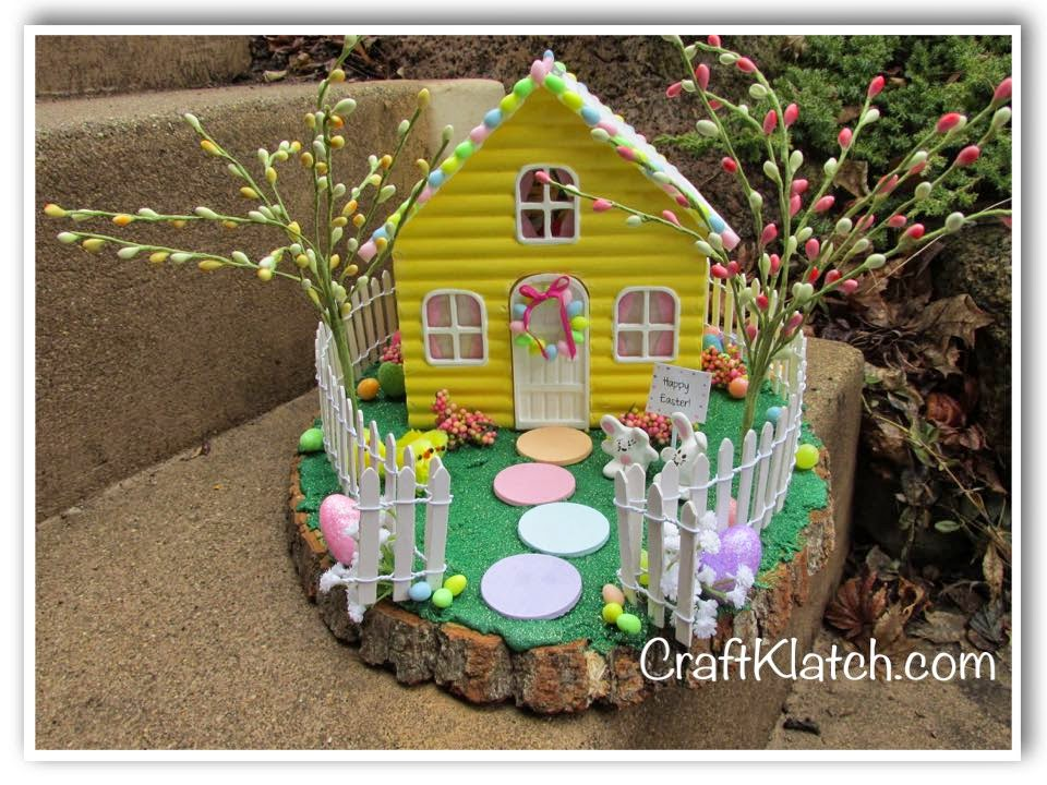 Craft klatch diy resin easter bunny house craft klatch for Homemade bunny houses