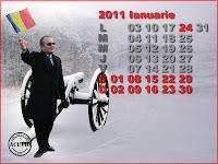 Funny postcard Ianuarie Emil Boc