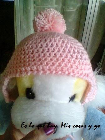 Es lo que hay. Mis cosas y yo.: Gorro a crochet para bebe de 0 a 3 ...