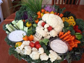 Skull Veggie Platter