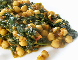 Spicy Chickpeas in a Tomato Coconut Sauce