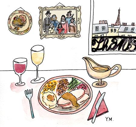 Thanksgiving dinner by Yukié Matsushita