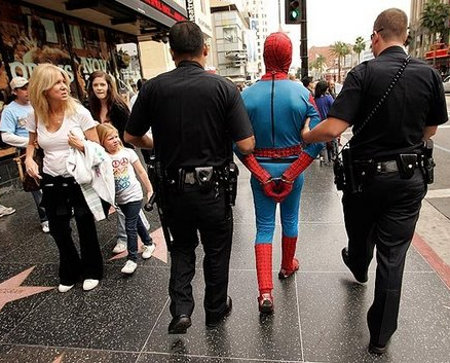 Your Favorite Superheroes Getting Arrested.