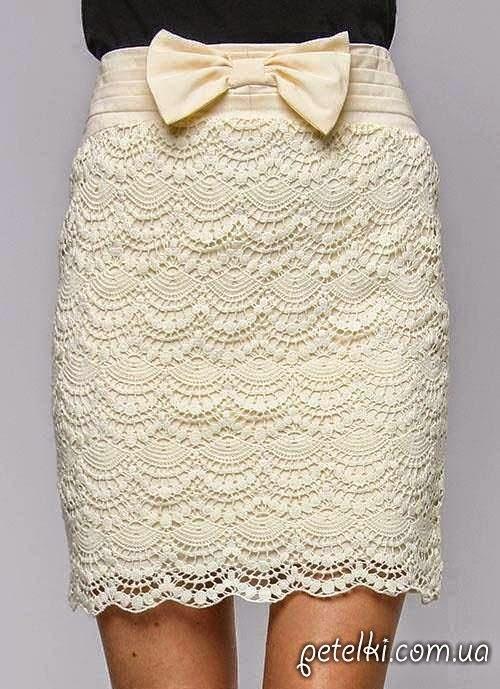 moldes y patrones de falda crochet