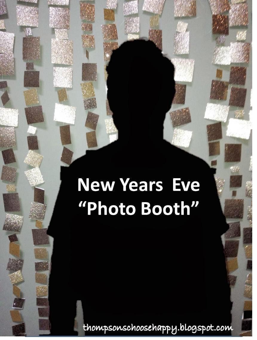DIY Glitter photo back drop New Years Eve | Choosing Happy Blog