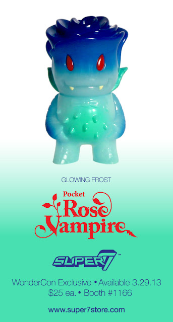 "Super7 - WonderCon 2013 Exclusive ""Glowing Frost"" Pocket Rose Vampire Vinyl Figure by Josh Herbolsheimer"