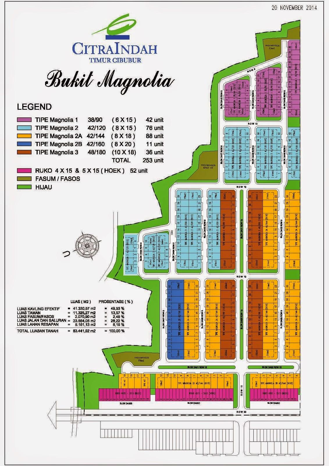 Site Plan Bukit Magnolia Citra Indah
