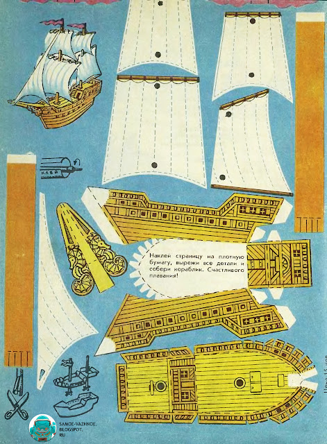 Кораблик своими руками чертежи