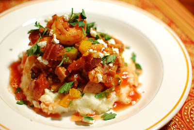 Smoky Shrimp with Cheddar Grits