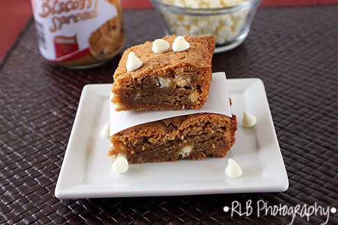 ... Country Cook: : White Chocolate Biscoff Blondies & A blog Award