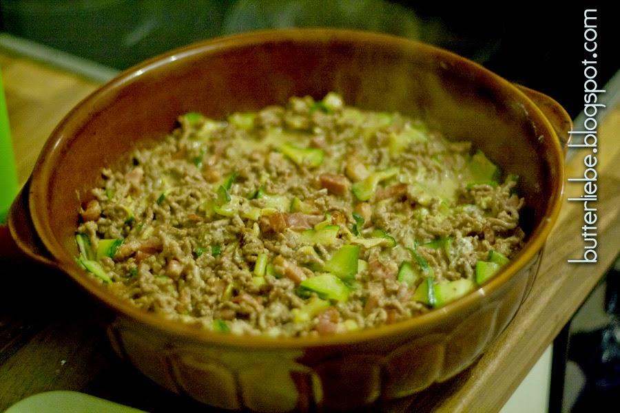 ButterLiebe.blogspot.com Rezept für LCHF Zucchini-Hack-Auflauf Low Carb High Fat